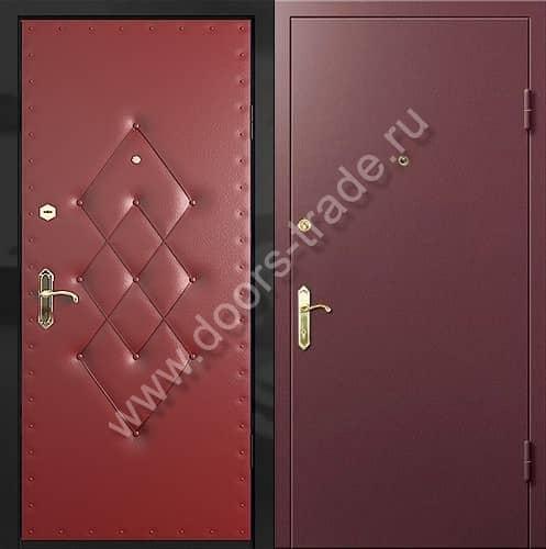 стальные двери с винилискожей установка