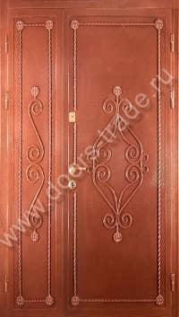 кованные двухстворчатые входные двери
